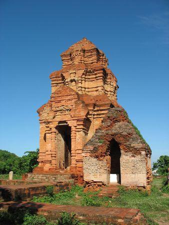 nu: Cham Towers Po sha Nu , vietnam. Monument Cham architecture and sculptures