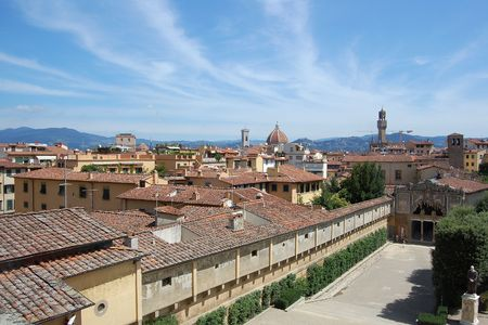 Panorama of Florence. Kind to Florence from palazzo Pitti. photo