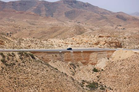Mountain road in Matmata . Tunisia Stock Photo