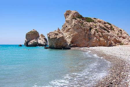 of petra: Rock of Aphrodite or Petra tou Ramiou in Cyprus, Europe