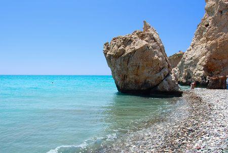 afrodite: Rock di Afrodite o Petra tou Ramiou a Cipro, in Europa