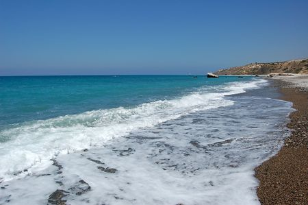 Bay of the Aphrodite.The mediterranean sea, cyprus Stock Photo