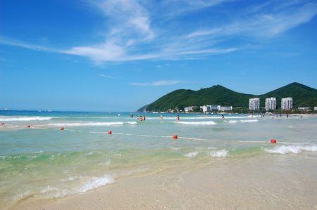 and sanya: Beach in Dadunhai bay. Sanya, Hainan, China Stock Photo