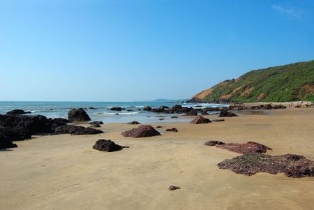 Tropical beach of arambol, Goa state, India