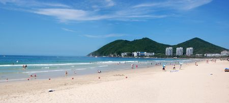 Beach in Dadunhai bay. Sanya, Hainan, China Stock Photo