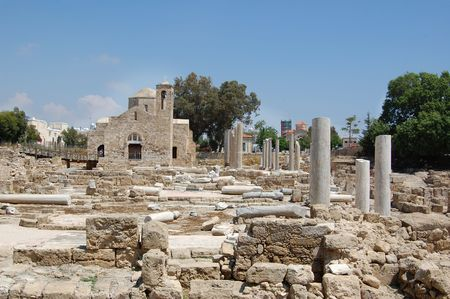 the ruins of which uncovered around the church, is one of the largest basilicas found so far in Cyprus (4 century).