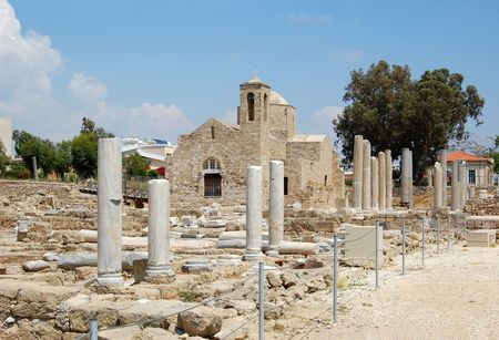apses: the ruins of which uncovered around the church, is one of the largest basilicas found so far in Cyprus (4 century).