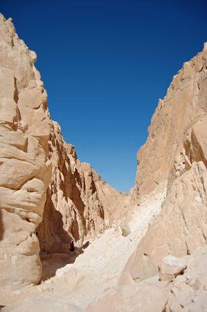sinai peninsula: White canyon in Egypt. Sinai peninsula, Nuweiba. Stock Photo