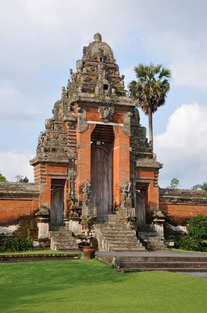 Traditional architecture of temples. Bali, Indonesia. Stock Photo