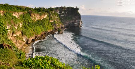 Rocky coast near Uluwatu temple on Bali, Indonesia