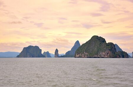 Beautiful sunset in Phang Nga Bay. Thailand, Phuket