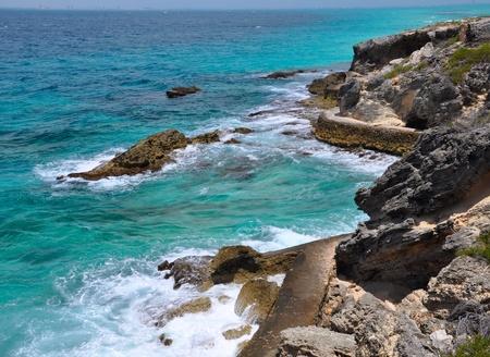 roo: beautiful sea. Isla Mujeres (Women Island). Mexico, Yucatan Stock Photo