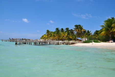 perfect tropical beach in Isla Mujeres, Mexico, Yucatan