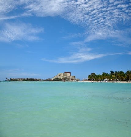 mujeres: perfect tropical beach in Isla Mujeres, Mexico, Yucatan