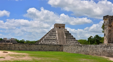 Chichen Itza Pyramid, Wonder of the World, Mexico, yucatan, temple complex photo