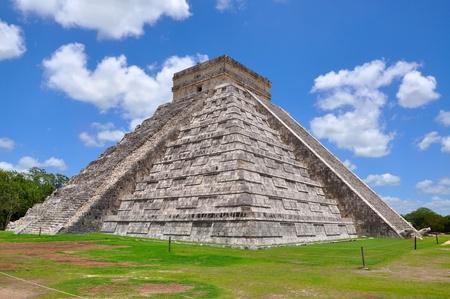 doomsday: Chichen Itza Pyramid, Wonder of the World, Mexico, yucatan