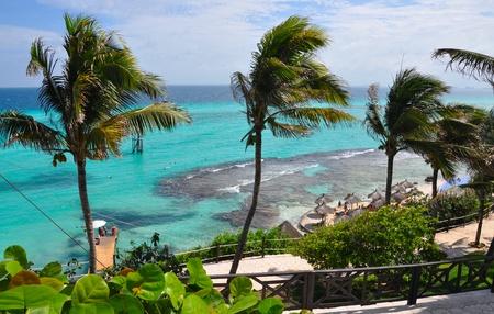 mujeres: perfect tropical sea landscape. island Isla Mujeres (Women Island). Mexico, Yucatan