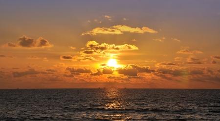 kata: Beautiful sunset in Kata. Phuket, Thailand Stock Photo