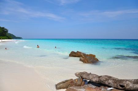 similan islands: Beautiful sea at Ta chai Island. Similan Islands, Thailand Stock Photo