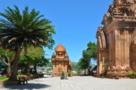 Towers were built by the Cham civilization  Nha Trang, Vietnam Stock Photo