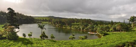 Lake in mountains  Mauritius island  photo