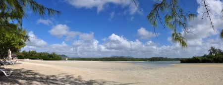 Beautiful tropical scenery, beach. mauritius island.