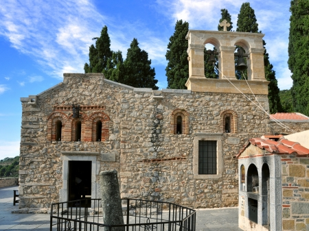 Monastery of Kera Kardiotissa. The most known and rich monastery in Crete photo