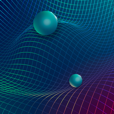 Gravitational waves concept for Physical and technology background. Çizim