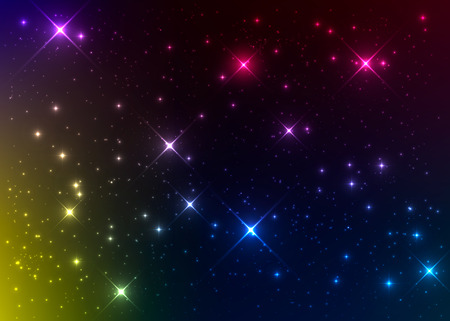 Bright and colorful nebulae. Stellar wallpaper. Outer space background.Vector cosmic illustration. Illustration