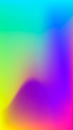 Futuristic holographic poster with gradient mesh. Iridescent graphic design template for placards, brochure, leaflet, flyer, cover, catalog, banner, wallpaper, presentation, mobile screen. Abstract vector background. Trendy liquid colored fluid illustration.