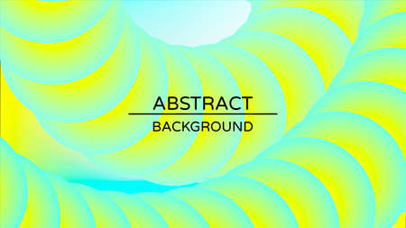 Abstract geometric vector background with 3d twisted liquid shape. Colorful design template with fluid shapes composition.