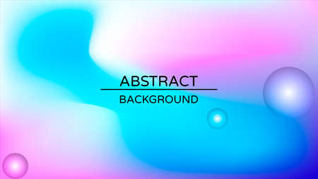 Abstract holographic gradient poster with pearlescent spheres. Design template for award, brochure, certificate, flyer, cover, banner, wallpaper, presentation. Trendy liquid vector background. Иллюстрация