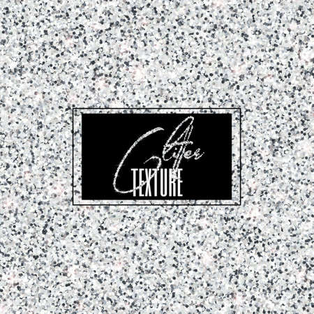 High resolution glitter texture. Shimmer and shining silver vector background for festive design, selebration and decoration.