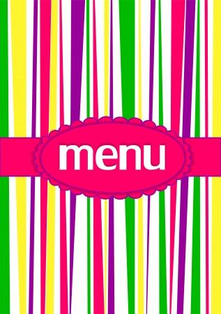 Color menu Vector illustration