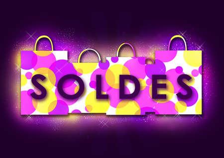 Balances raster illustration purple Stock Photo