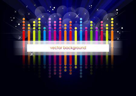 Blue horizontal music background   Vector