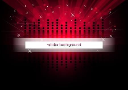 Red horizontal music background