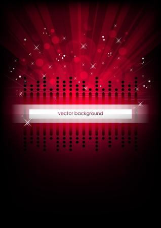 Red vertical music background   Illustration
