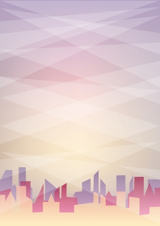 Pastel color abstract background with city