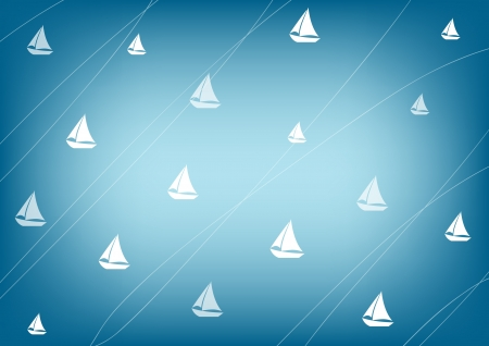 Horizontal sea background with ships
