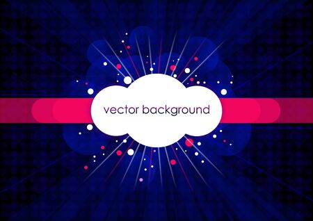 Blue horizontal music background with circles.