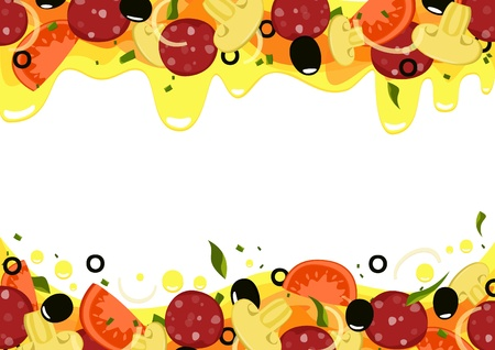 Background Pizza isolated with place for text.