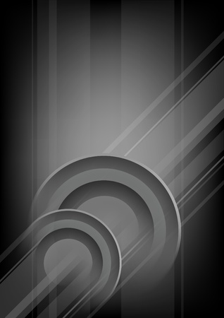 Abstract vertical black - grey background with circles
