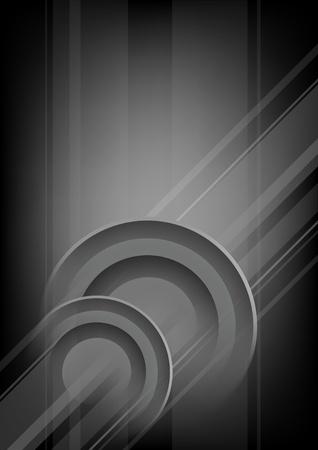 Verticales abstracta negro - fondo gris con círculos