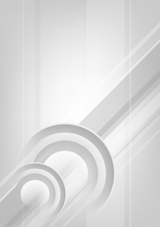Abstract vertical white - grey background with circles
