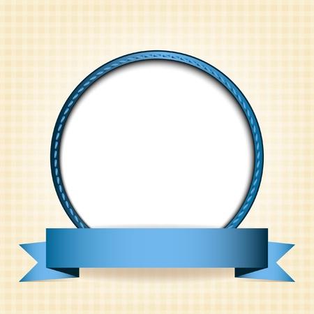 テキストまたはベージュの市松模様の背景イメージのための場所で白い円
