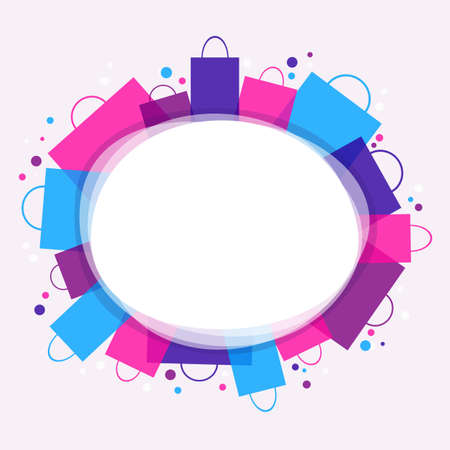fashion shopping: Shopping - color background with place for text   Illustration