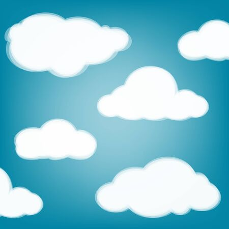 clean air: Sky background with transparent clouds   Illustration