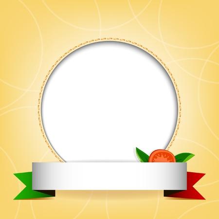 plato pasta: Fondo beige con bandera italiana