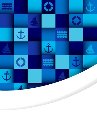 Sea mosaic background with place for text Stock Vector - 19373284